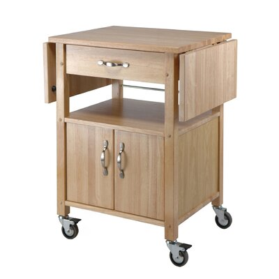 Anthem Kitchen Cart with Wooden Top