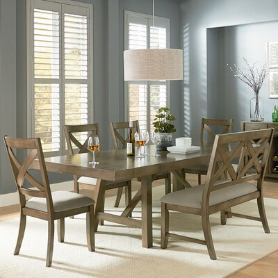 Vivien Dining Table Color: Gray