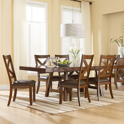 Vivien Dining Table Color: Burnished Saddle Brown