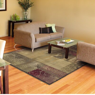 Matilda Green/Beige Area Rug Rug Size: Rectangle 67 x 91