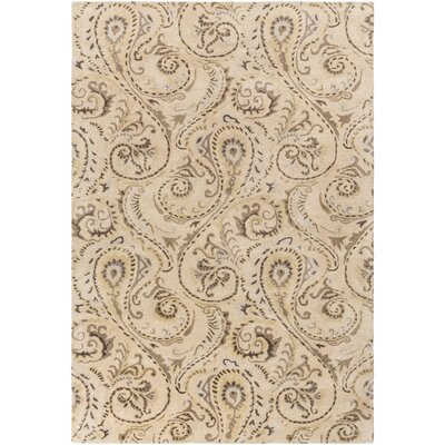 Houser Hand-Tufted Floral and paisley Area Rug Rug Size: 5 x 8