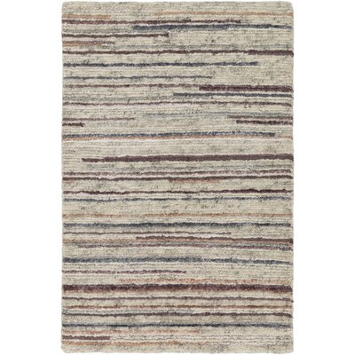 Bolger Hand-Knotted Peach/Burnt Orange Area Rug Rug Size: 6 x 9