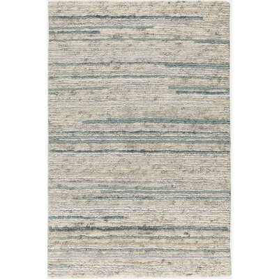 Bolger Hand-Knotted Cream/Sage Area Rug Rug Size: 2 x 3