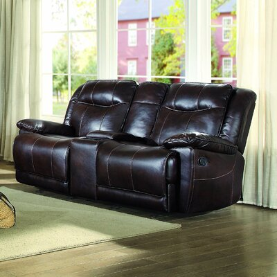 Boody Leather Reclining Loveseat