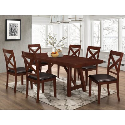 Banstead Solid Wood Trestle Style 7 Piece Dining Set