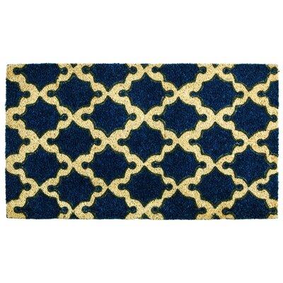 Barcelona Coir Geometric Doormat
