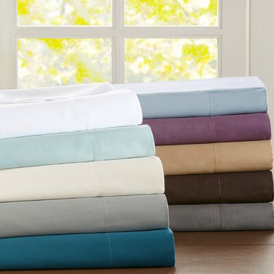 Rieger 4 Piece 300 Thread Count 100% Cotton Sheet Set Size: Full