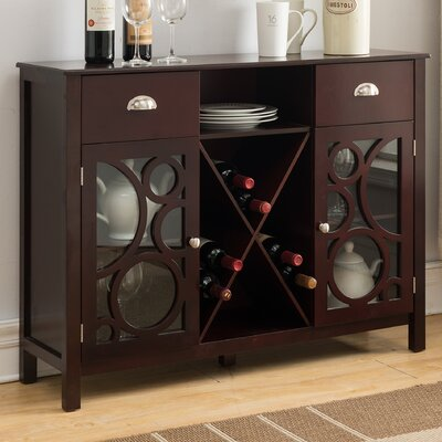 Sigel Wood 16 Bottle Floor Bar with Wine Storage