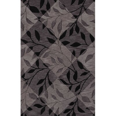 Bryant Black Checked Area Rug Rug Size: Rectangle 8 x 10
