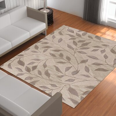 Bryant Hand-Tufted Ivory Area Rug Rug Size: Rectangle 36 x 56