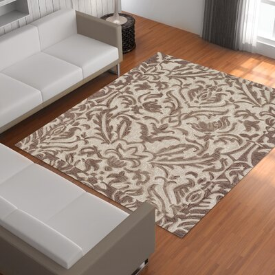 Bryant Khaki Area Rug Rug Size: Rectangle 36 x 56