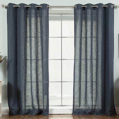Tyrese Solid Semi-Sheer Grommet Curtain Panels LFMF3215 45467400