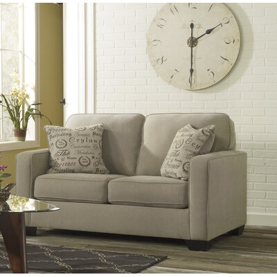 Spahn Loveseat Upholstery: Light Khaki