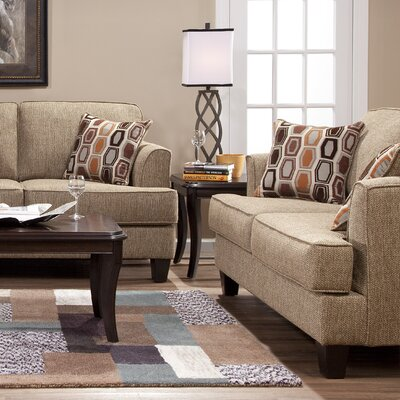 Serta Upholstery Dallas Loveseat Upholstery: Hanover Barley / Sunflower Dijon