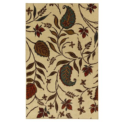 Adams Beige/Red Area Rug Rug Size: Rectangle 76 x 10