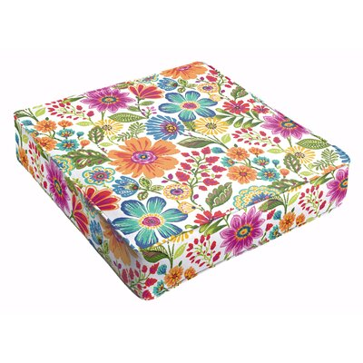Paxton Outdoor Floral Square Dining Chair Cushion