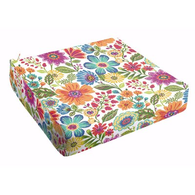 Paxton Floral Square Dining Chair Cushion