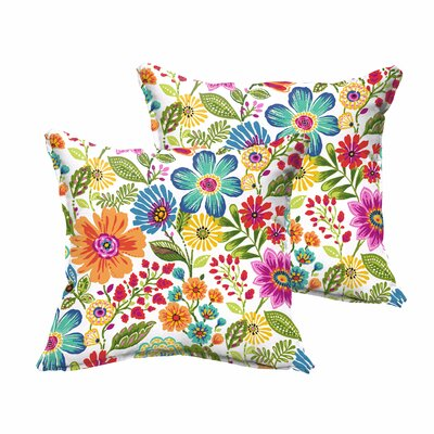 Paxton Traditional Floral Indoor/Outdoor Throw Pillow Size: 18 H x 18 W x 6 D