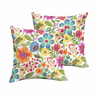 Paxton Floral Indoor/Outdoor Throw Pillow Size: 18 H x 18 W x 6 D