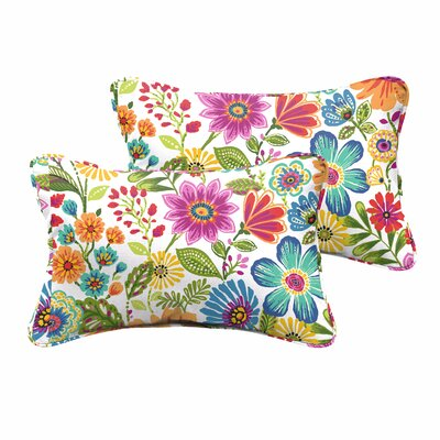 Paxton Floral Indoor/Outdoor Rectangular Lumbar Pillow