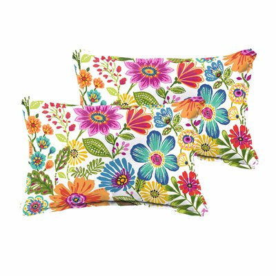 Paxton Traditional Floral Indoor/Outdoor Lumbar Pillow