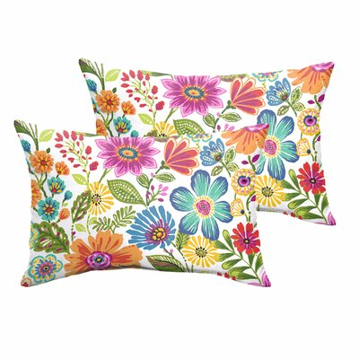 Paxton Floral Indoor/Outdoor Lumbar Pillow