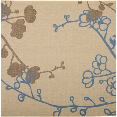 Barhill Brown / Blue Outdoor Area Rug Rug Size: Square 67