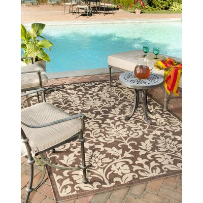 Barhill Chocolate / Natural Outdoor Area Rug Rug Size: Square 67