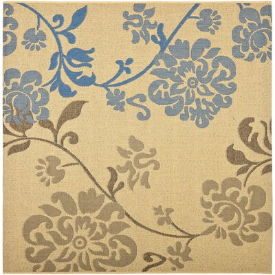 Barhill Brown/Blue Outdoor Area Rug Rug Size: Square 67
