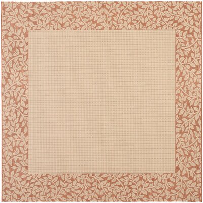 Barhill Natural/Terra Outdoor Rug Rug Size: Square 67