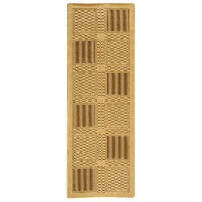Barhill Large Boxes Outdoor Rug Rug Size: Runner 27 x 5