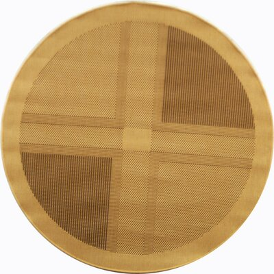 Barhill Large Boxes Outdoor Rug Rug Size: Round 67