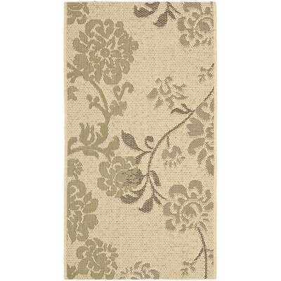 Laurel Brown/Olive Indoor/Outdoor Area Rug Rug Size: Rectangle 2 X 37