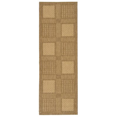 Barhill Large Boxes Outdoor Rug in , Runner 24 x 67