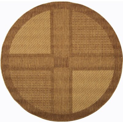 Barhill Large Boxes Outdoor Rug in , Round 67