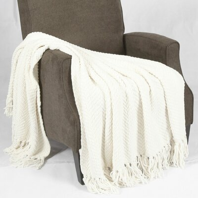 Bulfinch Jumbo Knitted Blanket Color: Antique White