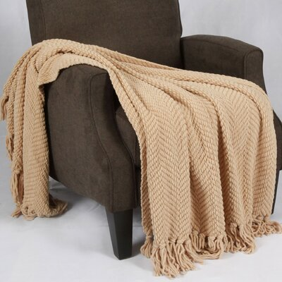 Bulfinch Jumbo Knitted Blanket Color: Light Camel
