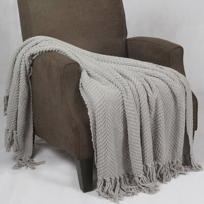 Bulfinch Jumbo Knitted Blanket Color: Silver