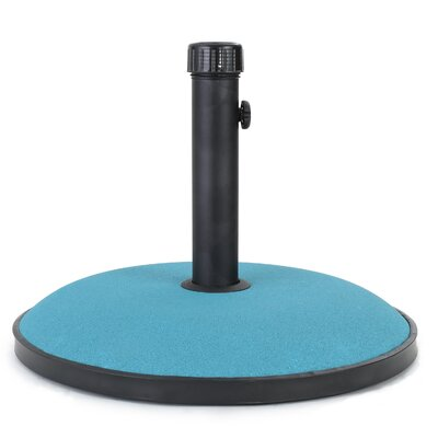 Burtt 55 lbs Concrete Free Standing Umbrella Base Color: Teal Concrete
