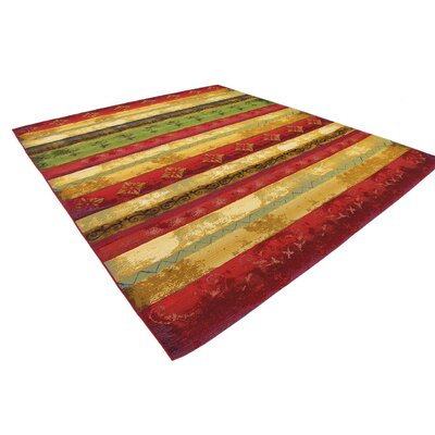 Aroma Red/Green Indoor/Outdoor Area Rug Rug Size: Rectangle 10 x 12