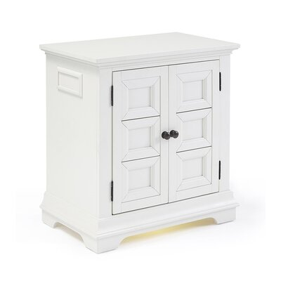 Abbottsmoor 2 Door Nightstand Finish: White