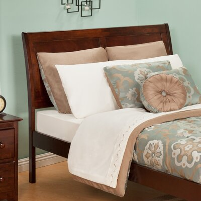Ahoghill Sleigh Headboard Color: Antique Walnut, Size: Twin