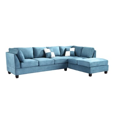 Childress Sectional Upholstery: Suede Aqua