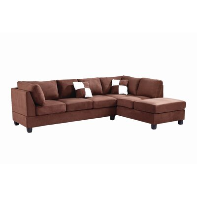 Childress Sectional Upholstery: Suede Chocolate