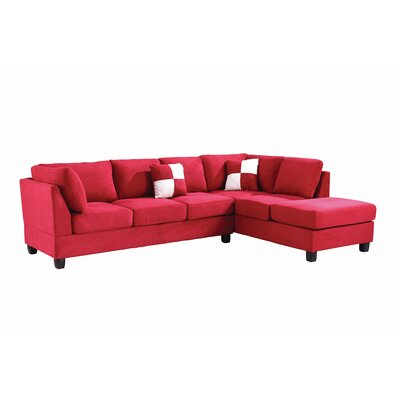 Childress Sectional Upholstery: Suede Red