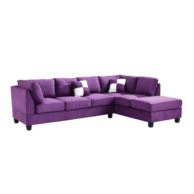 Childress Sectional Upholstery: Suede Purple