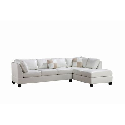 Childress Sectional Upholstery: Faux Leather White