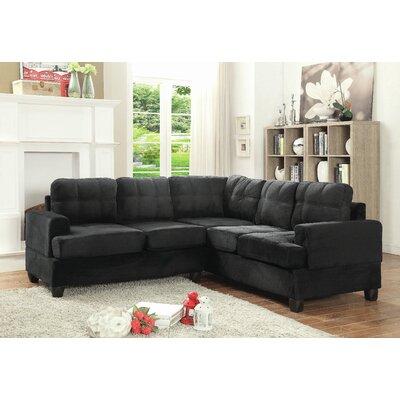 Amberwood Sectional Upholstery: Black