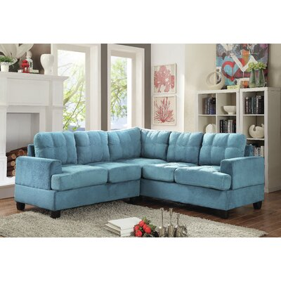Childress Sectional Upholstery: Aqua