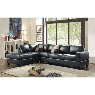 Childress Reversible Sectional Upholstery: Black